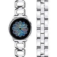 Joyozy Metal Band for Samsung Galaxy Watch Active 2 40mm 44mm/Active 40mm/Galaxy Watch 3 41mm/Galaxy Watch 42mm with Extra Link