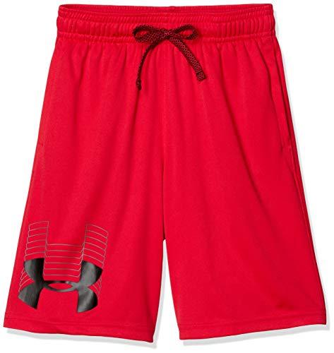 Under Armour Boys' Prototype Logo Shorts , Red (600)/Black , Youth Medium