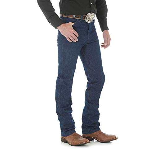 Wrangler Men's Cowboy Cut Slim Fit Jean, Navy, 32x36