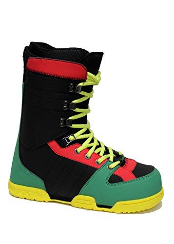 Celsius Sonic Men's Snowboard Boots, RASTA, 7