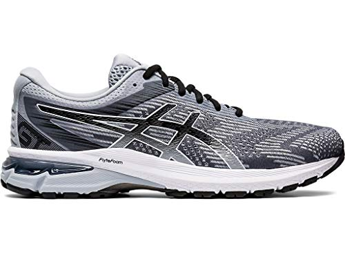 ASICS Men's GT-2000 8 Running Shoes, 12.5M, Piedmont Grey/Black