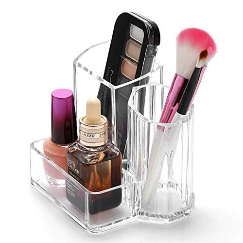 Jnyyjc Make-up Aufbewahrungsbox Augenbrauenstift Aufbewahrungsbox Plexiglas-Aufbewahrungsbehälter-Halter Transparente kosmetische Verfassungs-Organisator-Fall (Color : Transparent)