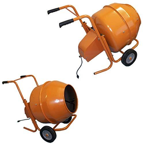 DBM IMPORTS 5 Cubic Feet Wheel Barrow Portable Cement Concrete Mixer