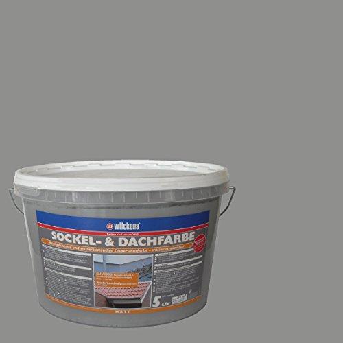 Wilckens 5 L. Sockel- & Dachfarbe, Steingrau Matt, hochdeckende, wetterbeständige Dispersionsfarbe, wasserverdünnbar