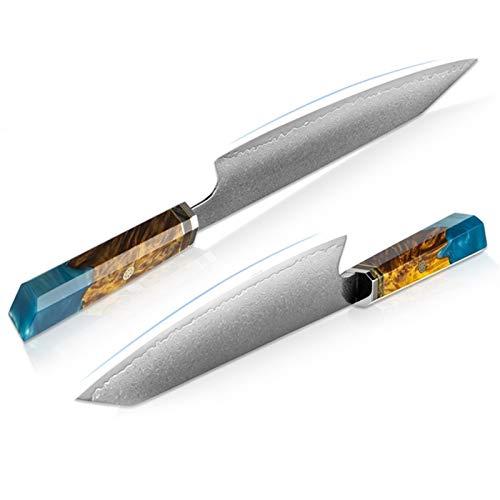 Cuchillo estrecho Damasco Kitchen Chef Cuchillo Cuchilla de carne Kiritsuke Knife La mejor opción para chefs profesionales y cocinas para el hogar Cuchillo estrecho