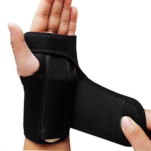 Adjust Wristband Steel Wrist Brace Wrist Support Splint Fractures Carpal Tunnel Sport Sprain Mouse Hand Wristbands (Left)