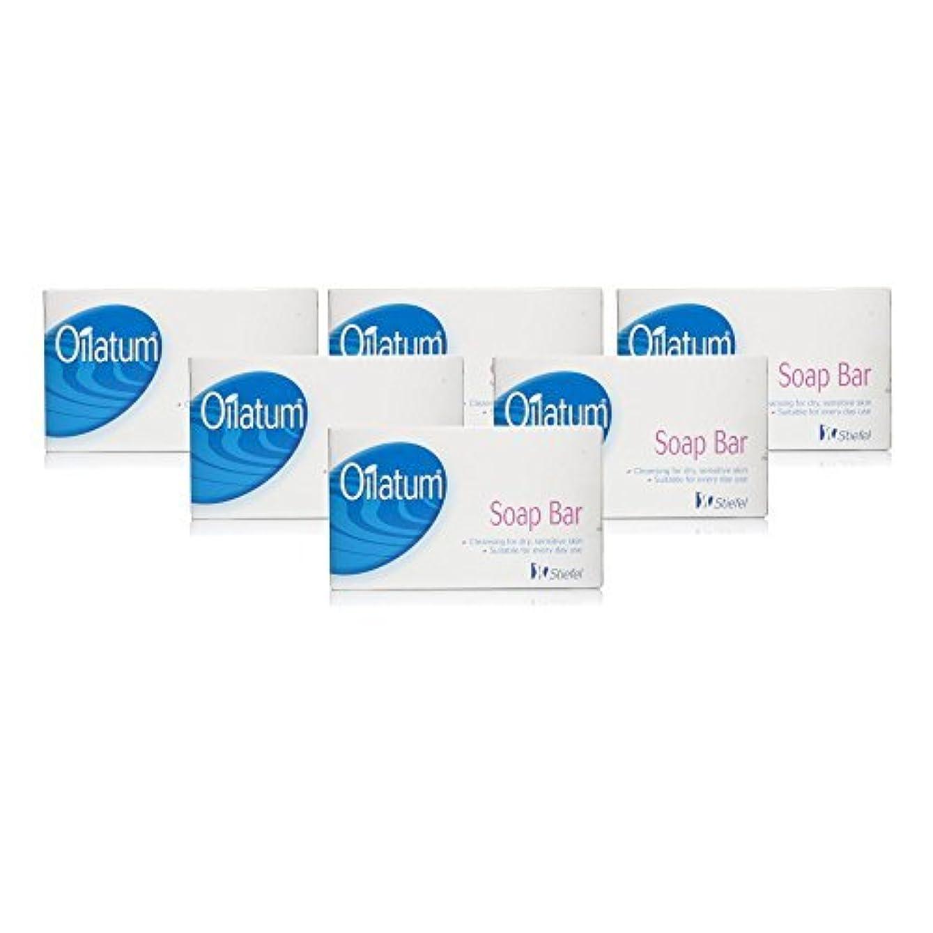 あいまいな簡単にボートOilatum Soap Bar 6 Pack by Oilatum