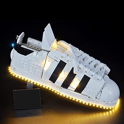 scarpe adidas con led LIND Set di luci a LED per LEGO 10282 Adidas Originals Superstar scarpe sportive