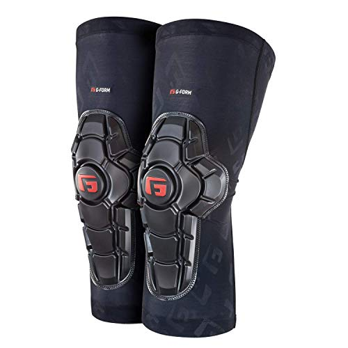 G-Form Pro X2 Knee Pad(1 Pair), Black Logo, Adult Medium