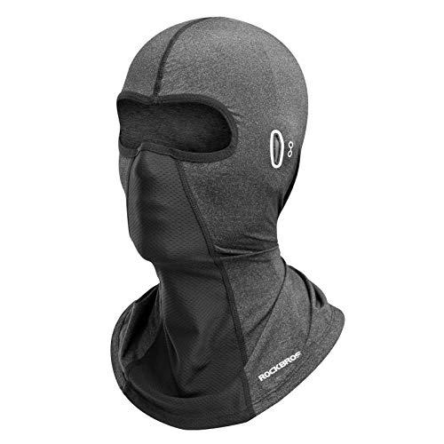 ROCKBROS Balaclava Transpirable de Verano UPF50+ Cubierta de Cara Completa para Hombres Mujeres Ciclismo Moto Deportes al Aire Libre