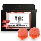 ANDERK Joystick Thumbstick Caps - Accesorios de Controlador de juego, Accesorios Esenciales para el Juego mando PS4...