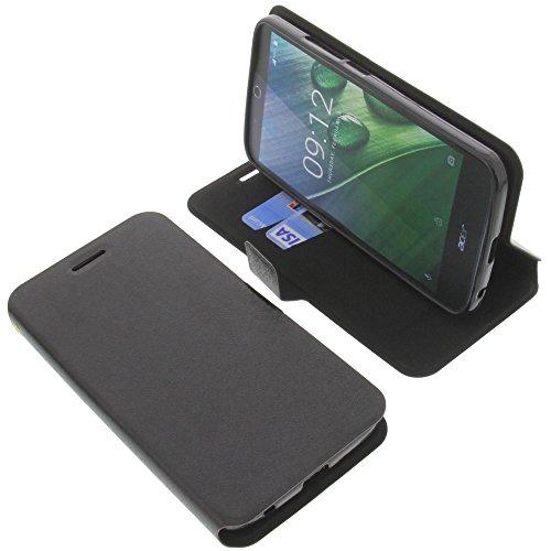 foto-kontor Tasche für Acer Liquid Zest Plus Book Style schwarz Schutz Hülle Buch