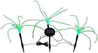 Wild Grass Solar Garden Lights. 3 Sprigs of Green Grass 1.2 Foot Tall
