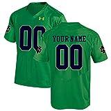 Custom Notre Dame Fighting Irish Kelly Green Football Jersey (XX-Large)