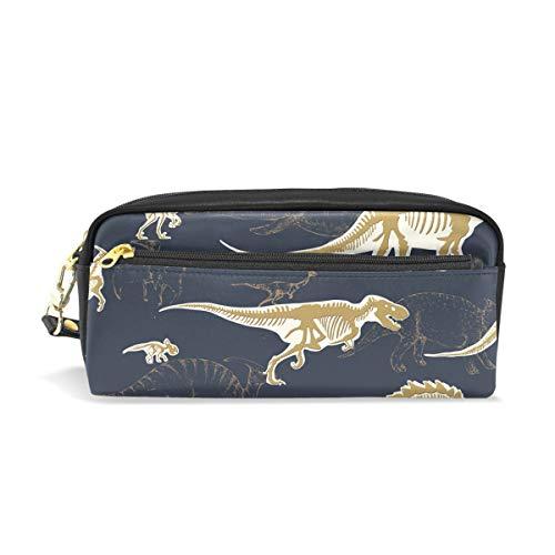 Estuche para lápices con cremallera grande bolsa de maquillaje dinosaurios (2) estuche para lápices para niños y niñas suministros escolares