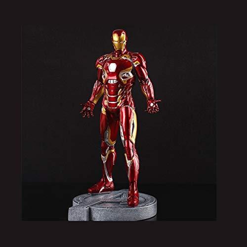 Hclshopsc (mark45 Red) Iron Man Casa Modelo de Juguete Estatua Anime Decoraciones Alta 30 cm Colección de Regalos de PU Serie de Avengers Anime Escultura Adornos