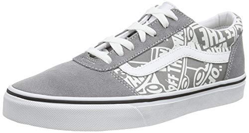 Vans Herren Ward Suede/Canvas Sneaker, Grau ((Otw Repeat) Frost Gray/White V0y), 50 EU