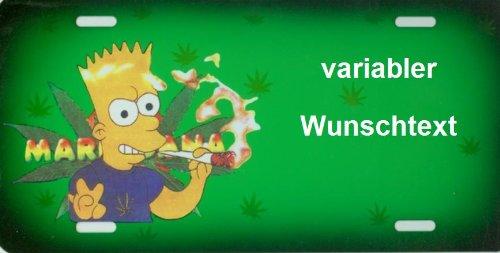 Namensschild Simpsons für Kinder mit Namen und Wunschtext Selbst Gestalten und Bedrucken lassen ✓ lustiges Funschild ✓ Blechschild ✓