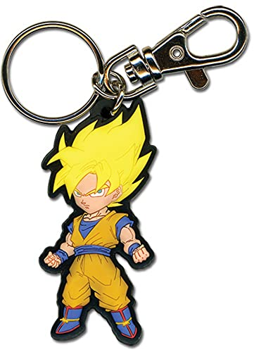 Great Eastern Entertainment Dragon Ball Z SS Goku PVC Keychain, 2'