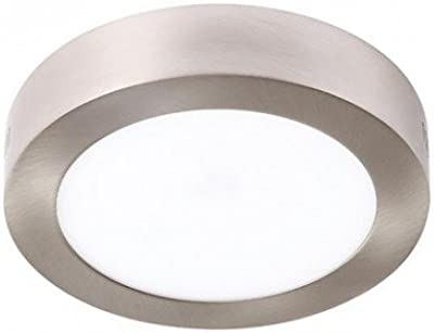 LEDUNI ® Pack 2 Unidades Plafón Panel Downlight Níquel Superficie LED Redonda 12W 980LM Luz Fría 6500K Angulo 120 IP44 Níquel 170mm*170mm*40Hmm: Amazon.es: Iluminación