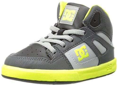DC Boy's Trase V Sneaker, Black/White, 1 M US Little Kid