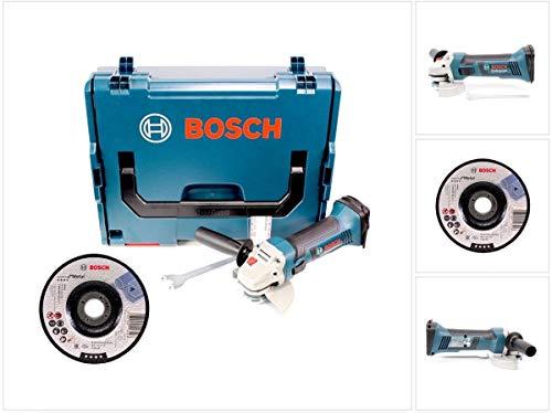Bosch GWS 18-125 V-LI accu-haakse slijper 18V 125mm + L-Boxx (060193A308) + 25 x Bosch slijpschijf voor metaal, gebogen (2608600221)