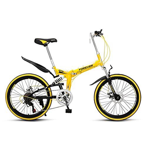 ZXQZ Bicicletas para Niños, Bicicletas de Montaña Todoterreno de 22 Pulgadas, para Salidas Al Aire Libre, Colegio (Color : Yellow)