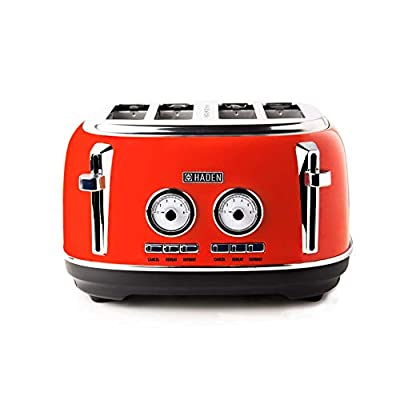 Haden Jersey Toaster – Electric Stainless-Steel Toaster, Four Slice, Marmalade CE45 (NOT RED)