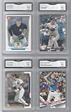 AARON JUDGE 4 CARD ROOKIE LOT BOWMAN & TOPPS UDPATE GRADED GEM MINT 10 YANKEES ROOKIE OF THE YEAR SUPERSTAR