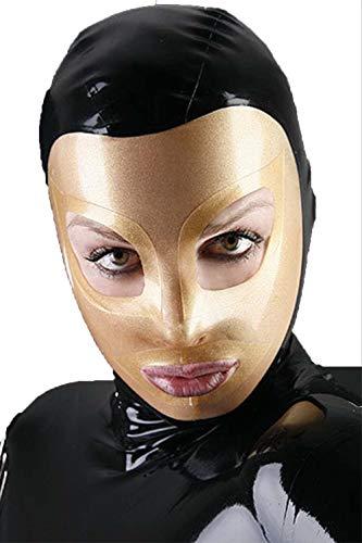 Sex MaskeLatex MaskeLatex KleidungHalloween Maske LatexSklaven Restraint Bondage Bar Fetish Sex Maske Rollenspiel Kopfelastizität Perfektes Geschenk Für Männer Und Frauen-L