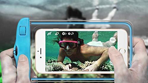 Caja impermeable de la bolsa del teléfono con el acollador para nadar Snorkeling con la ventana de la cámara