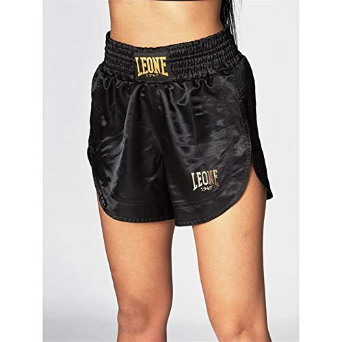 LEONE 1947 Pantaloncini Kick-thai Donna Nero, M