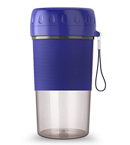 YWYW Licuadora eléctrica portátil, Mini Taza de Jugo Personal Recargable USB de 300 ml para batido de batido de Hielo triturado (Color: Azul)