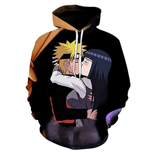 VEPOSE Naruto and Hinata 3D Printing Cosplay Hooded 1 Asian M