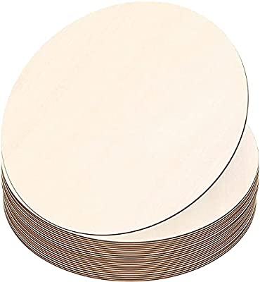 Gerodaphin Wood Circles for Crafts Unfinished Wooden Blank Round Wooden Slices,Wood Circles for Painting, DIY Door Hanger, Home, Party, Holiday Decor