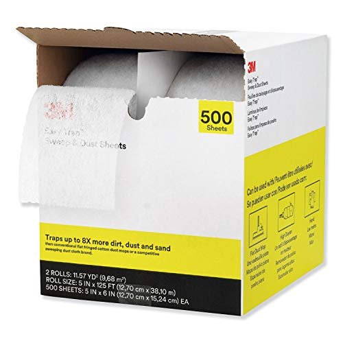 "3M Easy Trap Duster, 5"" X 125 FT, White, 2 250 Sheet Rolls/Carton"