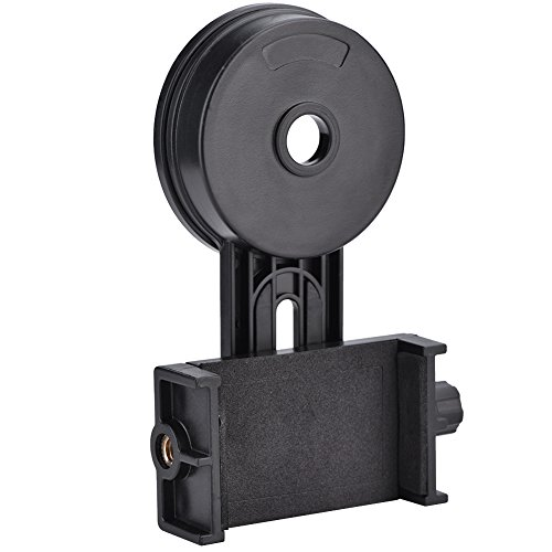 V BESTLIFE Adaptador Universal para Teléfono Celular Soporte Conector de Montaje para Telescopio, Prismáticos, Monoculares, Microscopio y con Teléfono Móvil