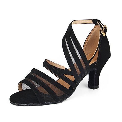 Syrads Zapatos de Baile Latino para Mujer Zapatos de Baile Tango Salsa Samba Bachata Baile de Salón Baile Interior