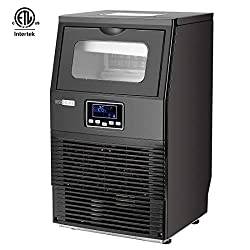 VIVOHOME Electric Portable Commercial Free Standing Ice Cube Maker Machine 88lbs/day Black