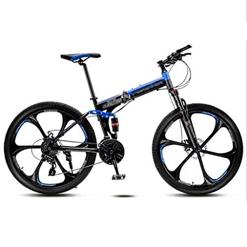 LWZ Vollgefedertes Mountainbike 26-Zoll-Faltrad Stoßdämpfer-Doppelscheibenbremse MTB-Bikes Rennräder mit hohem Kohlenstoffstahl-Mountainbike