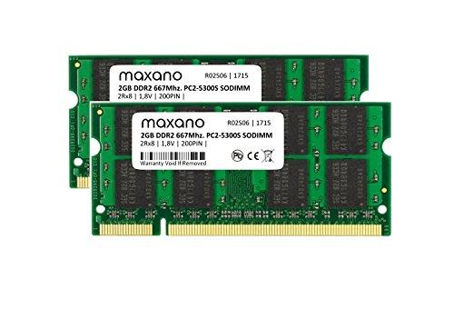 maxano® 4 GB Dual Channel kit (2 módulos de 2 GB) DDR2 667