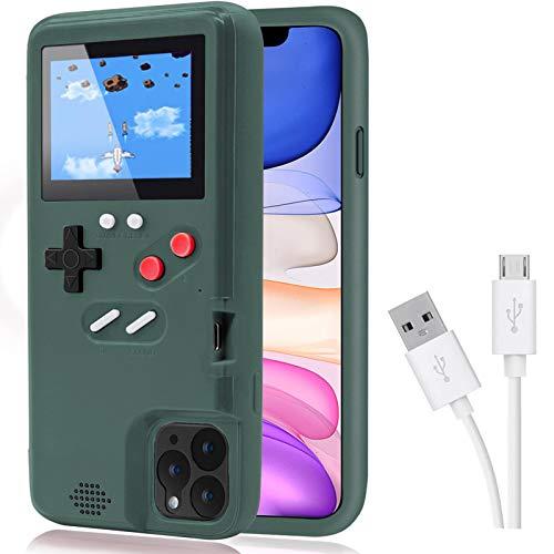 Game Funda para iPhone,Dikkar Estuche Autoamplificado con Cubierta Protectora Retro con 36 Juegos,Pantalla a Color,Estuche para Videojuegos para iPhone X/XS MAX/Xr/6s/7/8P/11/12/13/Pro/Max/Mini