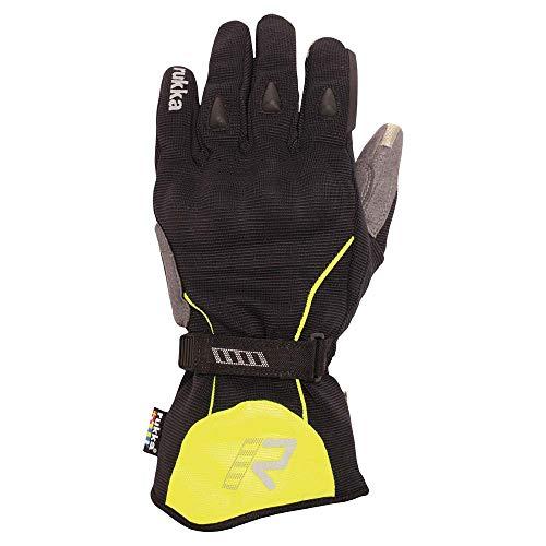 Rukka Virium Gore-Tex 14 - Guantes para moto, color negro y amarillo