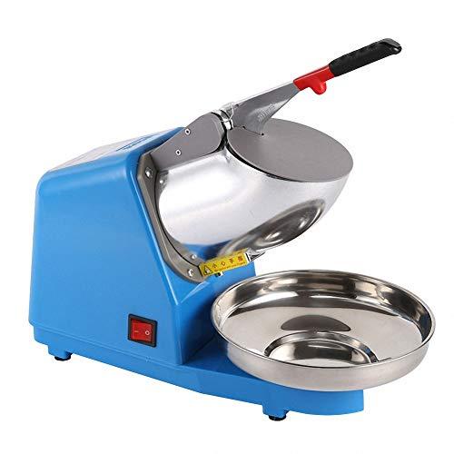 GUDEMN Eisbrecher Doppelklinge High-Power Elektro Edelstahl Schneekegelmaschine EIS Mixer Chopper Rasierer Werkzeug für Home Commercial Kitchen Bar Milch Tee Shop verwenden 220 V,Blue