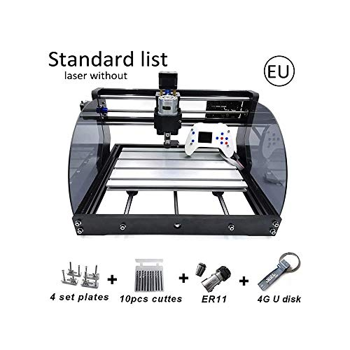 CNC Milling Machine, CNC 3018 Pro Max Laser Engraving Machine, Upgrade PCB Engraving Machine GRBL Control 3 Axes DIY Wood Router with ER11, 5mm Extension Rod Craft Cutting Tools Standrad