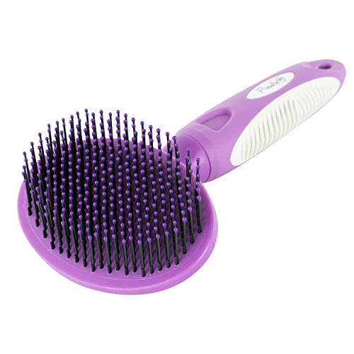 Round Bristle Pet Brush for Dogs and Cats - Gentle Grooming for Short or Long Hair - Soft Tool for Sensitive Skin Removes Dander, Dirt, and Detangles...