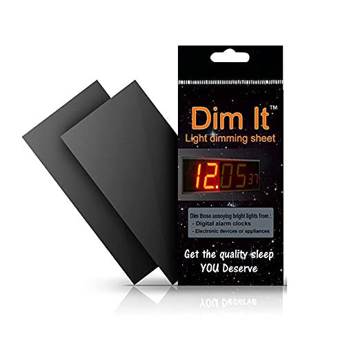 Dim It Light Dimming Sheets - Medium Size Sheet, Light Blocking LED Covers, Great Dimming for alarm clocks, cell phones, electronic games, appliances | Color Black, Size 6 x 3 inches | Custom size