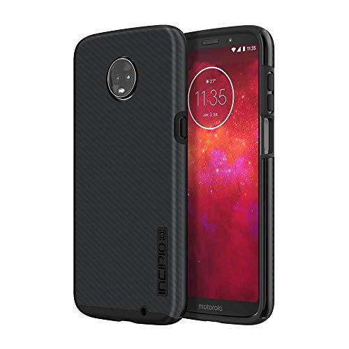 Incipio DualPro Shine Case für Motorola Moto Z3 Play - von Motorola zertifizierte Schutzhülle (Carbon) [Extrem robust I Stoßabsorbierend I Carbon-Faser Optik I Hybrid] - MT-453-CFB