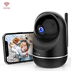 [Dual-bandWi-Fisupported]-Workswith2.4GHzand5GHzWi-Fi. Never worried about suffering from connection problems. [Motiondetection]-You will get the alarm notification from the APP on your phone when camera monitor movements, which help to p...