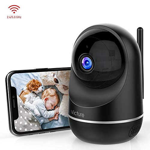 Victure Dualband 2.4Ghz and 5Ghz 1080P WiFi Camera Baby Monitor,FHD Wireless Security Camera with Motion Detection, Pan Tilt, 2-Way Audio, Night Vision